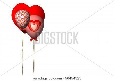 Balões de dia dos namorados