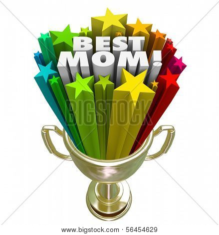 Best Mom Trophy Award Worlds Greatest Mother