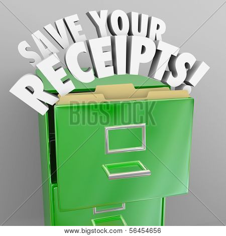 Save Your Receipts File Cabinet Proof Money Spending Audit