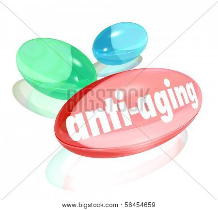 Anti-Aging Vitamins Pills Capsules Natural Youth