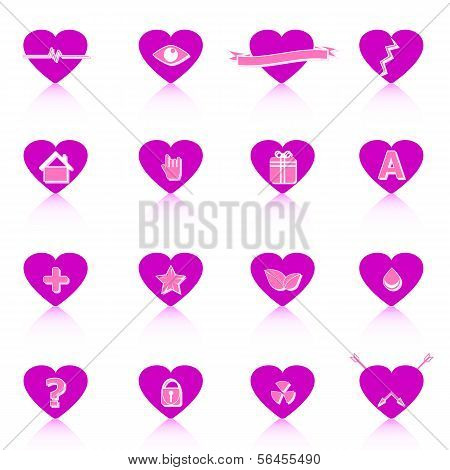 General Symbol In Heart Shape On White Background