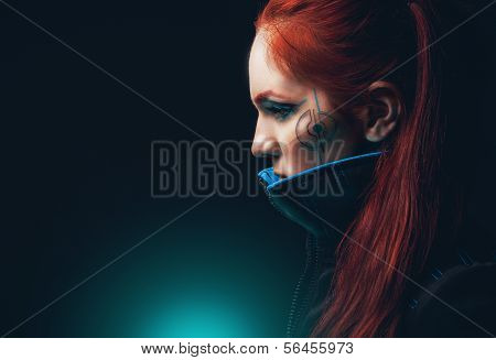 Portrait of futuristic women