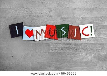 Music, Sign Series For Music, Singing, Concerts And Bands