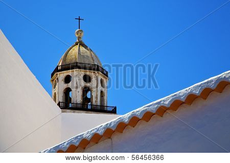 The Old Terrace Church Bell Tower In Teguise Arrecife Lanzarote