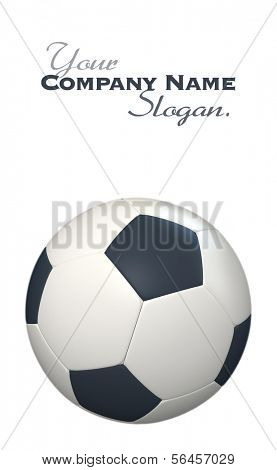3D rendering of a classic black and white soccer ball against a white background