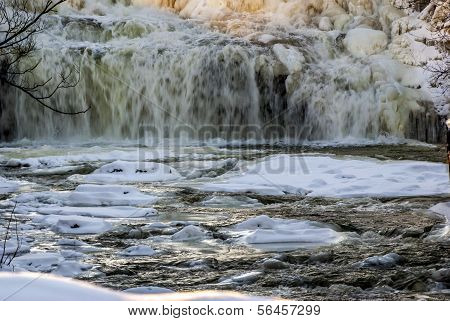 Winter Water Falls