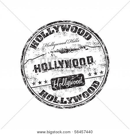 Hollywood grunge rubber stamp