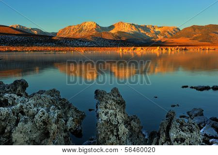 Mono Lake Tufa Formations At Sunrise