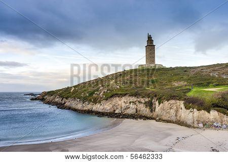 Lapas Beach In A Coruna, Galicia, Spain.