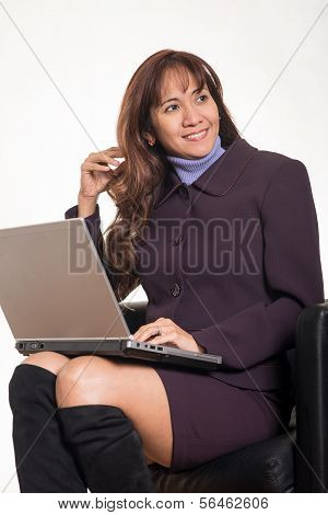 Attractive Brunette Asian Business Woman In Her Forties