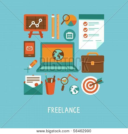 Vector Freelance Work Concept