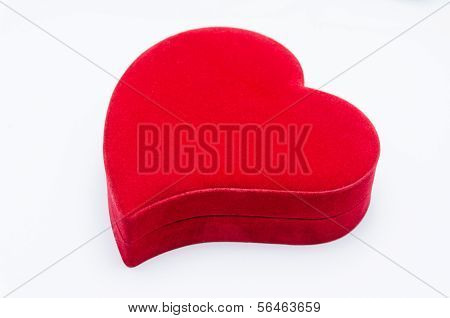 Heart Shaped Box On A White Background