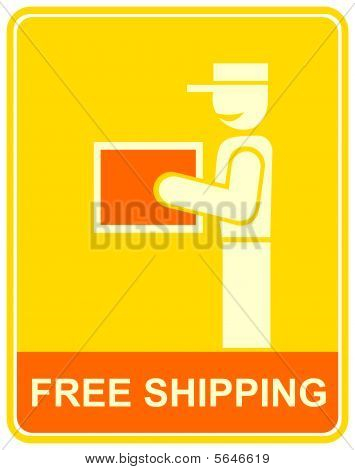 free delivery - sign, icon