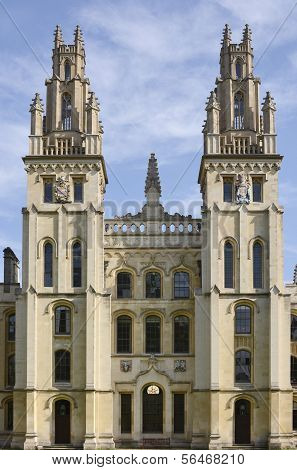 All Souls College. Oxford. England