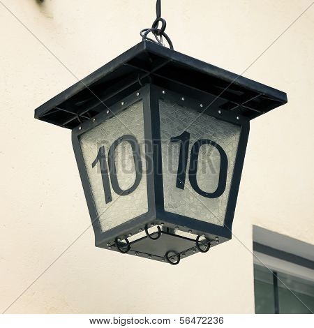 House Lantern With Number Ten