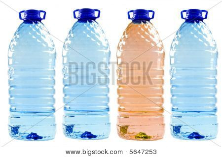 Bottled Water Isolated On The White