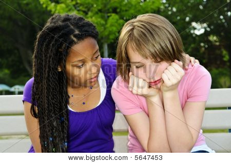 Teenager Consoling Her Friend