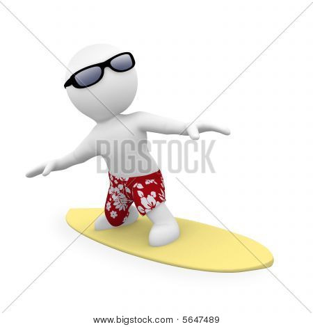 Mr Smart Guy Is Surfing