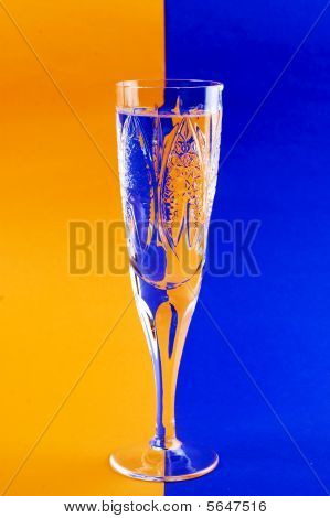 Glass Beverage Whis Variegated Background