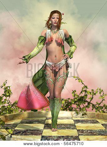 Fairy With Cloak 3D Cg