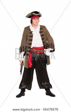 Man Wearing Pirate Costume