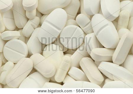 white drugs pills