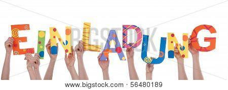 Hands Holding Einladung
