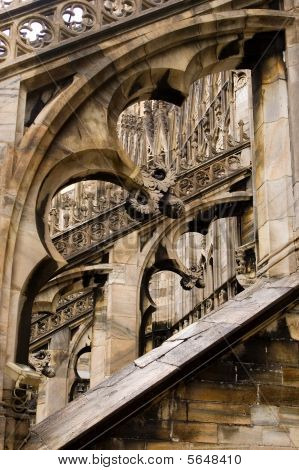Milan Cathedral Buttresses