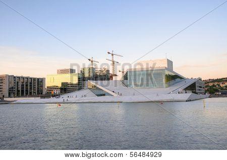 OSLO - JULY 14: Panorama of the Oslo Opera House July 14, 2009 in Oslo, Norway