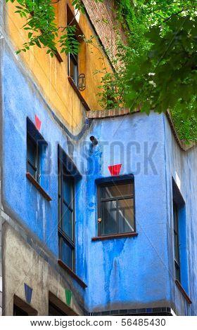 Hundertwasser House  In Vienna, Austria.