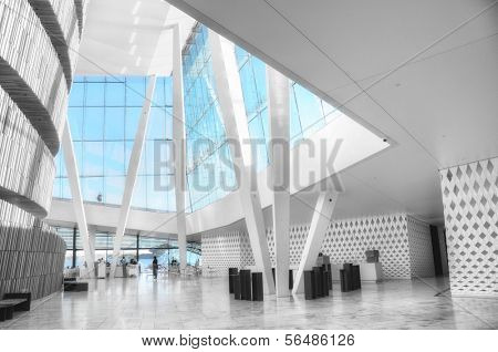 OSLO - JULY 14: Interior of the Oslo Opera House in black and white July 14, 2009 in Oslo, Norway