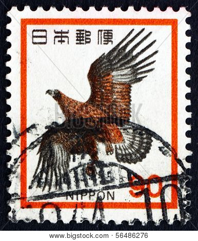 Postage Stamp Japan 1971 Golden Eagle, Bird