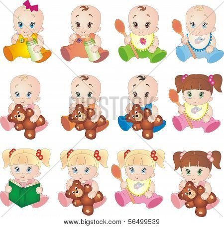 Collection of baby vectors