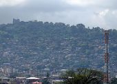 stock photo of freetown  - freetown a town in sierra leone africa - JPG