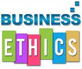 pic of ethics  - Business in professional way and ethics in colourful background - JPG