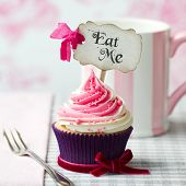 stock photo of eat me  - Cupcake with  - JPG