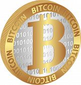 image of bitcoin  - isolated coin of bitcoin  - JPG