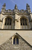 image of grotesque  - Merton College chapel tower with gargoyles and grotesques - JPG