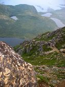 picture of firn  - Landscape in the Lofoten islands in Norway - JPG