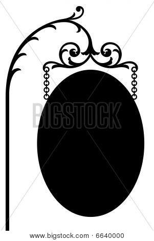 Colgante oval signo