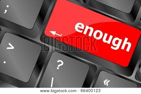 Enough Word On Keyboard Key, Notebook Computer Button
