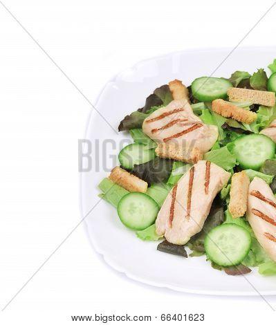 caesar salad with cucumbers.