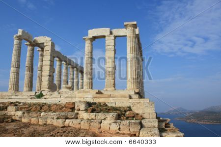 Temple Of Poseidon Near Athens, Greece
