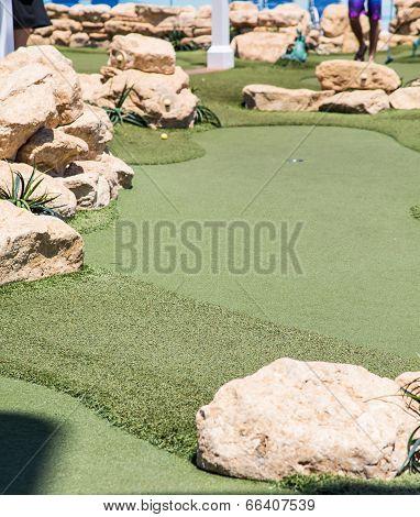 Fake Grass On Miniature Golf Course