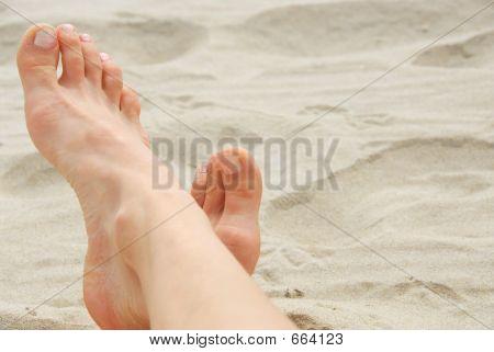 Woman Feet Beach