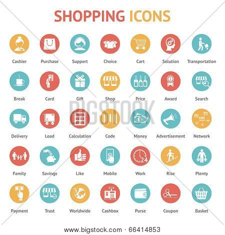 purchase, payment and delivery icons