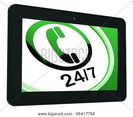 Twenty Four Seven Tablet Shows Open 24/7