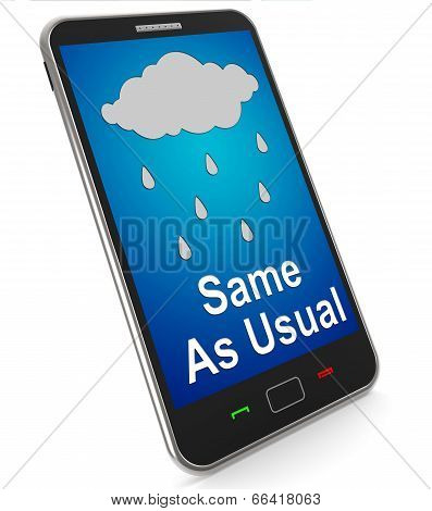 Same As Usual On Mobile Means No Change In The Weather