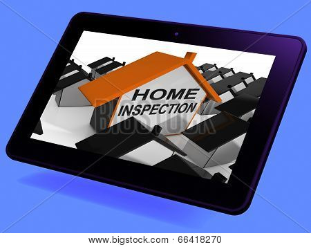 Home Inspection House Tablet Means Review And Scrutinize Propert