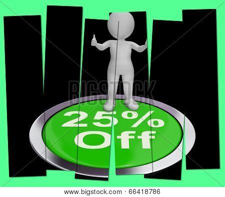 Twenty-five Percent Off Pressed Shows 25 Lower Price